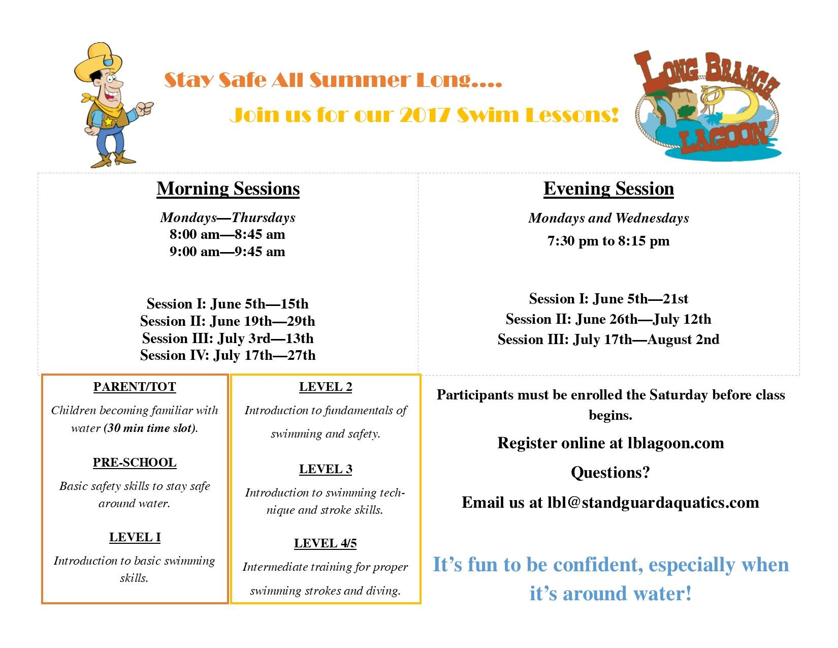 Swim Lessons Flyer Updated