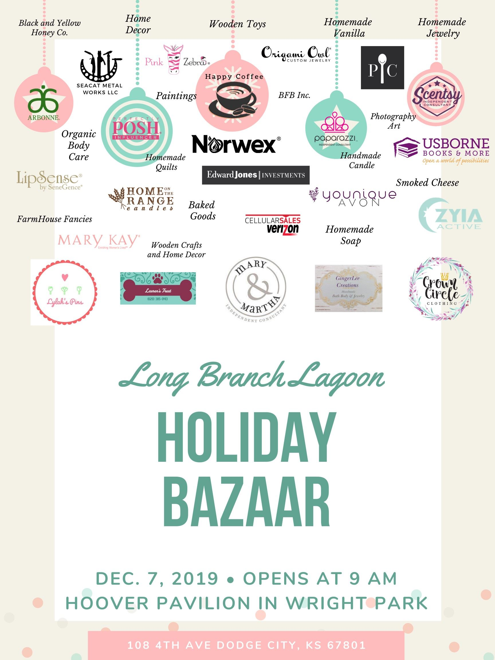 Holiday Bazaar Vendor List Flyer